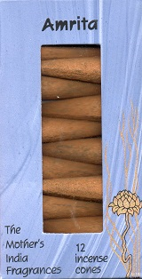 Amrita: The Mother's India Fragrances Incense 12 Cones