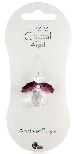 Angel Hanging Crystal - Amethyst Purple