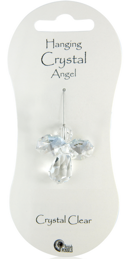 Angel Hanging Crystal - Crystal Clear
