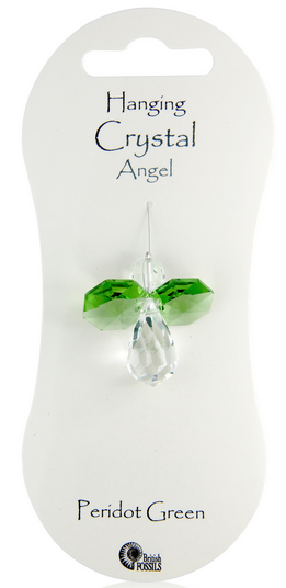 Angel Hanging Crystal - Peridot Green