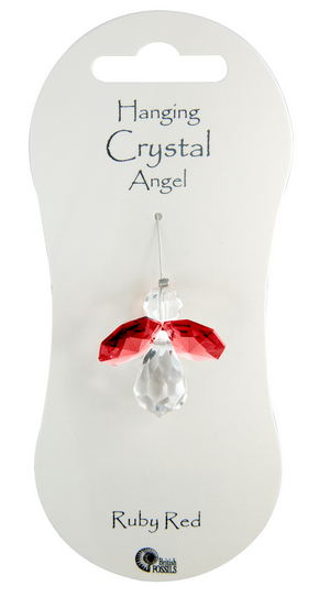 Angel Hanging Crystal - Ruby Red