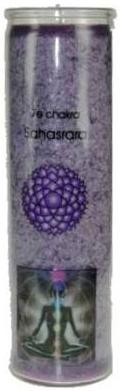Chakra Aromatic Jar Candle - 7th Chakra (Crown) - Sahasrara - Purple -