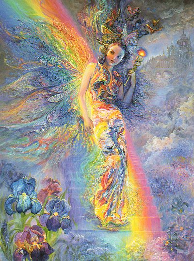 "Encouragement Card ""Iris - Keeper of the Rainbow"" Encouragement Greetings Card by Josephine Wall (ECG45674)"