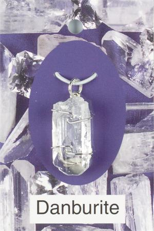 Heaven & Earth's Wired Wrapped Gemstone Pendant: Danburite