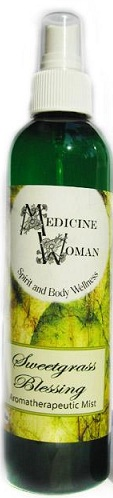 Medicine Woman: Sweetgrass Blessing Aromatherapeutic/Purifying Mist (Liquid Smudge 4oz)