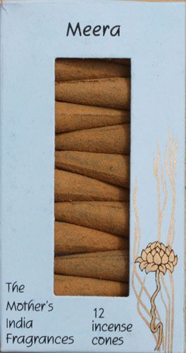 Meera: The Mother's India Fragrances Incense 12 Cones