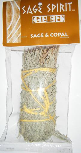 "Sage & Copal Smudge Stick (4-5"" Small) by ""Sage Spirit"""