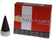 Vijayshree Golden Incense Cones - Nag Champa (10 incense cones)