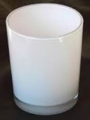 Votive Holder - Milky Glass